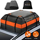 FIVKLEMNZ Car Roof Bag Cargo Carrier, 15 Cubic Feet Waterproof Rooftop Cargo Carrier with Anti-Slip Mat + 8 Reinforced…