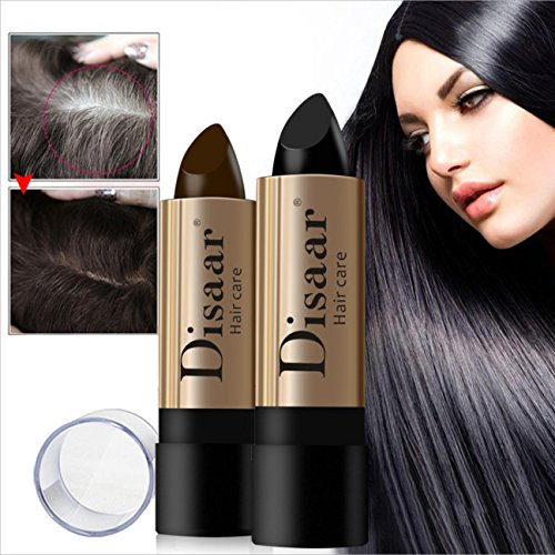 DISAAR Beauty Hair Care Balm Hide White Grizzle Hair Color Lipstick 10g (BROWN)