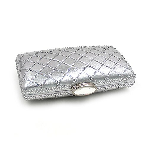 Stylish Hand Banquet Cosmetic Prom Evening Women Clutch Bag Bag Party Color Bag Purse Silver Black Rabbit Clutch Lovely IxqE7wpn