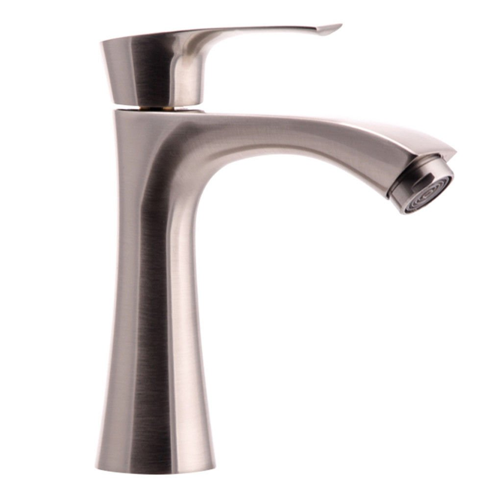 Single Cold yuyu19-SLT Bathroom Taps Mixer Mono Basin Mixer Tap Sink Faucet Brushed copper, hot and cold