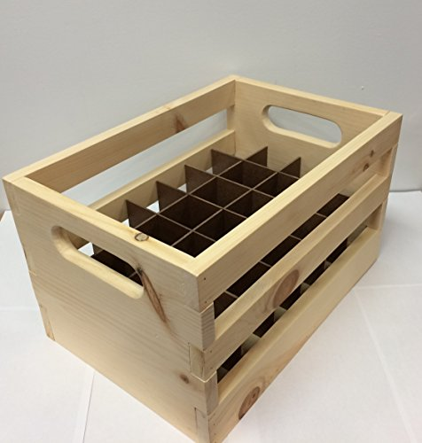 Hand Made Wooden Beer Bottle Crate. 24-Bottle Capacity. Made Locally In The USA! by Strange Brew