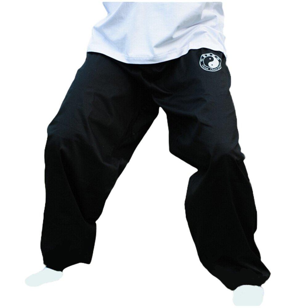 Zooboo Chenjiagou - Pantalon pour pratiquer le Tai Chi et les arts martiaux - Vêtement en coton noir