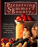 Preserving Summer's Bounty, Rodale Food Center Staff, 0875969798