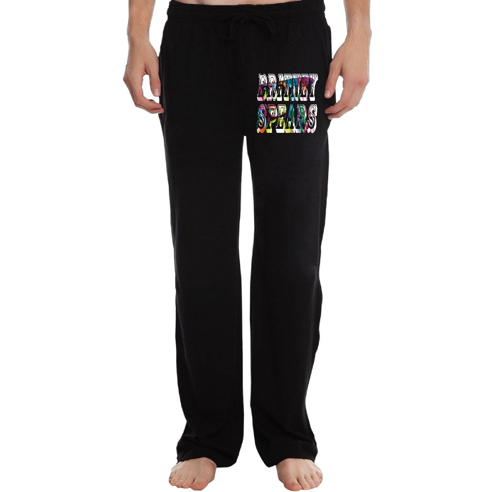EVALY Men's Well Known Singer Colorful Logo Poster Funny Short Running Pants Black