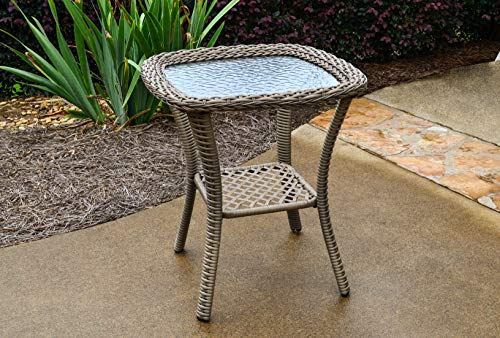 Tortuga Outdoor Rio Vista Patio Wicker Bistro/Side Table (Factory Furniture Direct Patio)