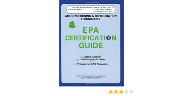 Air Conditioning and Refrigeration Technician\'s Epa Certification ...