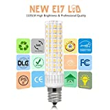 LanYue Ceramic E17 LED Bulb for Microwave Oven Appliance 8.5 Watt, 1000W Halogen Bulb Equivalent, Warm White 3000K, Non-Dimmable Pack of 2