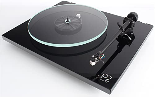 Rega Planar 2 Turntable with RB220 tonearm, Glass-platter and Carbon Cartridge Gloss Black