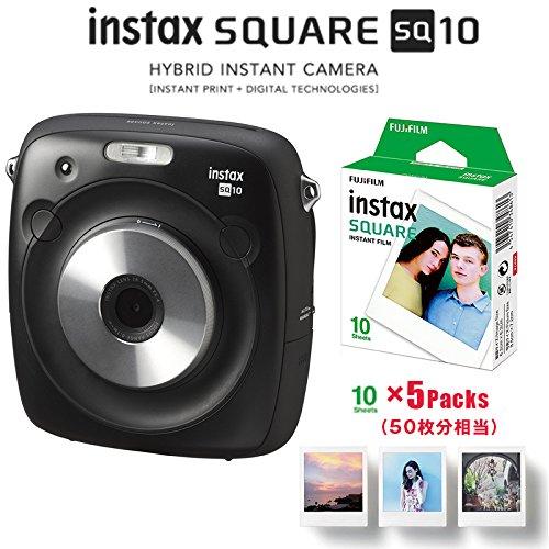 FUJIFILM インスタントカメラ チェキ instax SQUARE SQ10&スクエアフイルム50枚&アルバムセット   B071VK9GNW