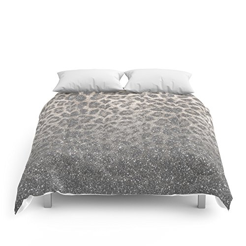 Society6 Shimmer (Snow Leopard Glitter Abstract) Comforte...