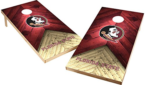 Wild Sports NCAA College 2'x4' Florida State Seminoles Cornhole Set
