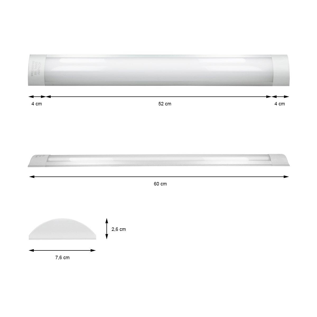 ECD Germany Plaf/ón LED rectangular 90cm 28W L/ámpara de techo ultradelgada Iluminaci/ón de oficina IP20 Blanco fr/ío 6000K
