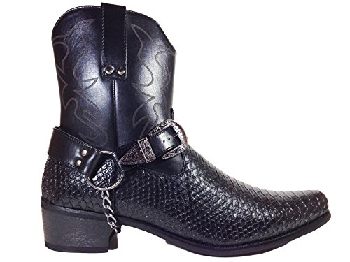 Pictures of Men's Crocodile Prints Western Cowboy Boots 1