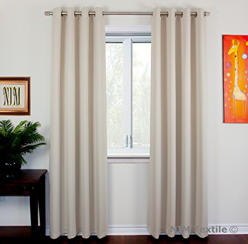 96 Window Panel Drapes - NIM Textile Grommet Curtains Thermal Insulated Blackout Drapes, 140