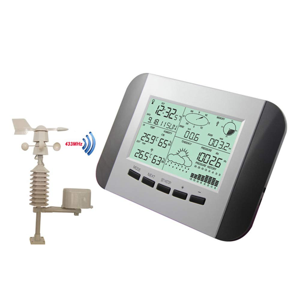 ワイヤレス気象ステーション、デジタル屋内屋外温度湿度温度計ラジオ制御気象ステーションクロックと PC インターフェイス