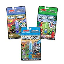 Melissa & Doug On The Go Water Wow! 3-Pack (The Original Reusable Water-Reveal Coloring Books - Dinosaurs, Adventure, Animal - Great Gift for Girls and Boys - Best for 3, 4, 5, 6, and 7 Year Olds)