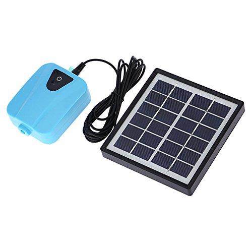 Leoie Solar Powered Aquarium Air Pump, Water Oxygen Pump Oxygenator Pond Aerator Pump Air Pump Aquarium for Fish Tank & Fountain ()