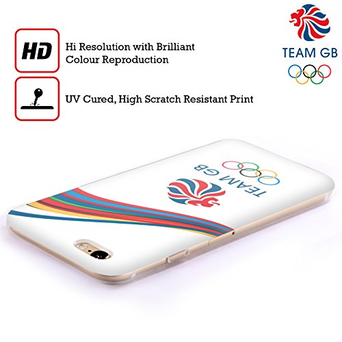 Official Team GB British Olympic Association Fluid Bands 2 Rio Soft Gel Case for Apple iPhone 4 / 4S