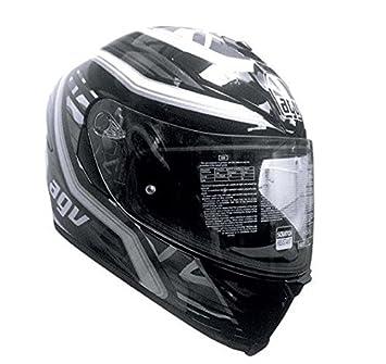 AGV k5-s firerace UK negro blanco casco de motocicleta ...