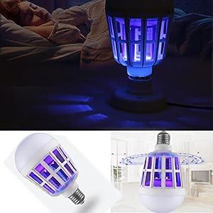 SUMTTER Nuovo LED Repellente Anti-Mosquito Lampada Antizanzare Lampadina 15W 1000LM 6500K Elettronico Mosca Insetto Lure… 10 spesavip