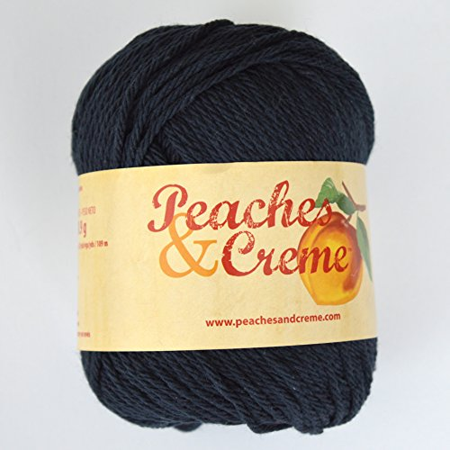 Peaches & Creme (Cream) Cotton Yarn Black 2.5 oz. 11040