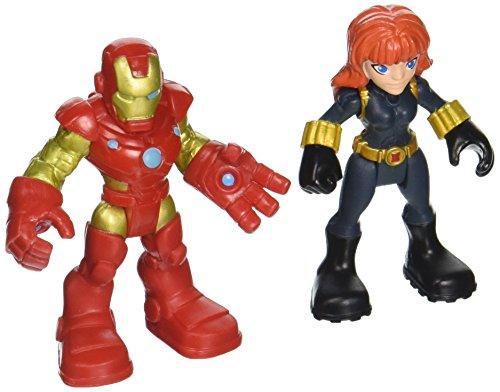 Playskool Heroes Super Hero Adventures Iron Man & Marvels Black Widow Toy ()