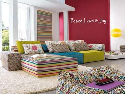 Waldenn Peace, Love Joy Vinyl Wall Art Decal Home Decor 24 | Model DCR - 1642