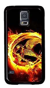 Black Back Case Cover For Samsung Galaxy S5 DIY Durable Shell Skin For Samsung Galaxy S5 with Gold Hero