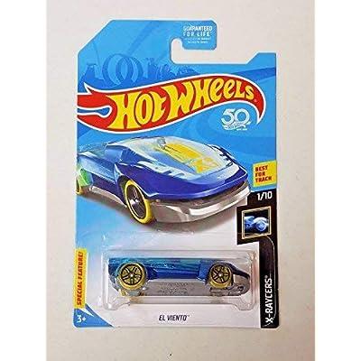 Hot Wheels 2020 50th Anniversary X-Raycers El Viento, Blue (Treasure Hunt): Toys & Games