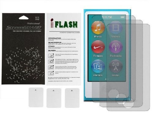(iFlash® Bubble Free Screen Protector: Anti Glare edition - For Apple Nano 7th Generation - (3Pack) Retail Packaging)