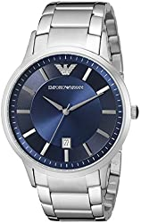 Emporio Armani Men's AR2477 Classic Analog Display Analog Quartz Silver Watch
