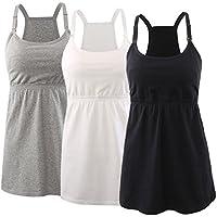 KUCI Maternity Nursing Top Tank Cami, Women Maternity Nursing Sleep Bra Breastfeeding Tops for Pregnancy