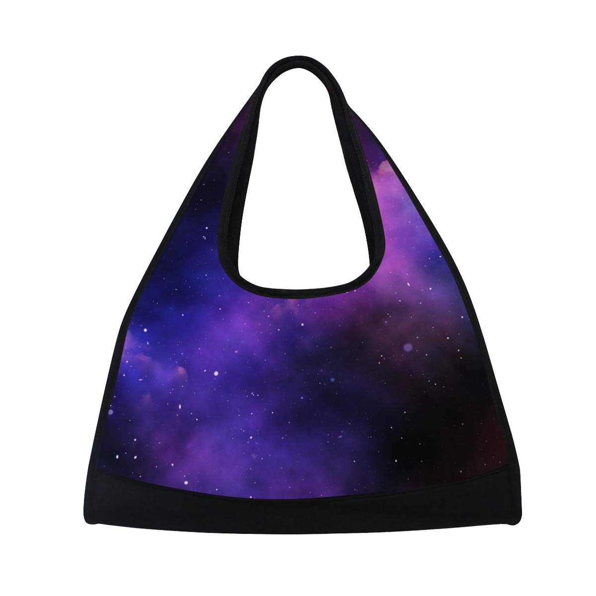 Space Sky With Stars And Nebula Women Sports Gym Totes Bag Multi-Function Nylon Travel Shoulder Bag