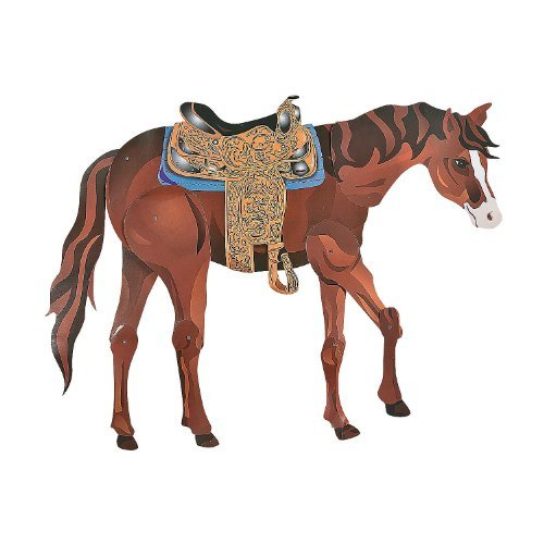 (Large Brown Horse Jointed Cutout 36
