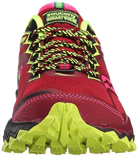 Saucony Peregrine 6Zapatillas de running para mujer, color morado/gris) Rojo