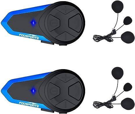 Wireless Bluetooth vivavoce auricolare moto casco impermeabile FM radio