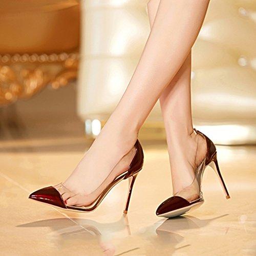 vin Conseils avec female ta couleur de 5cm Height talons Chaussures chaussures à 5cm assorties de de chaussures rouge hauts Height des mariée Couleur mode Single sexy 8 transparente 10cm 5cm 8 shoes 8 zwYqRR