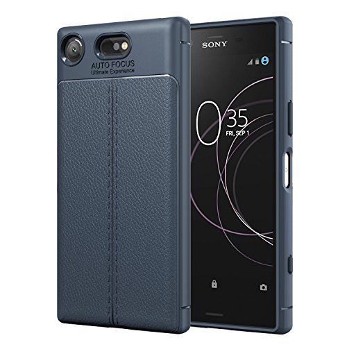 MoKo Sony Xperia XZ1 Compact Case, Flexible TPU Gel Bumper Cover Protective Shockproof Anti-scratch Back Cover for Sony Xperia XZ1 Compact 2017 - Blue