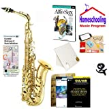 Homeschool Music - Learn to Play the Alto Sax Pack (Star wars Music Book Bundle) - Includes Student Alto Sax w/Case, DVD, Books & All Inclusive Learning Essentials