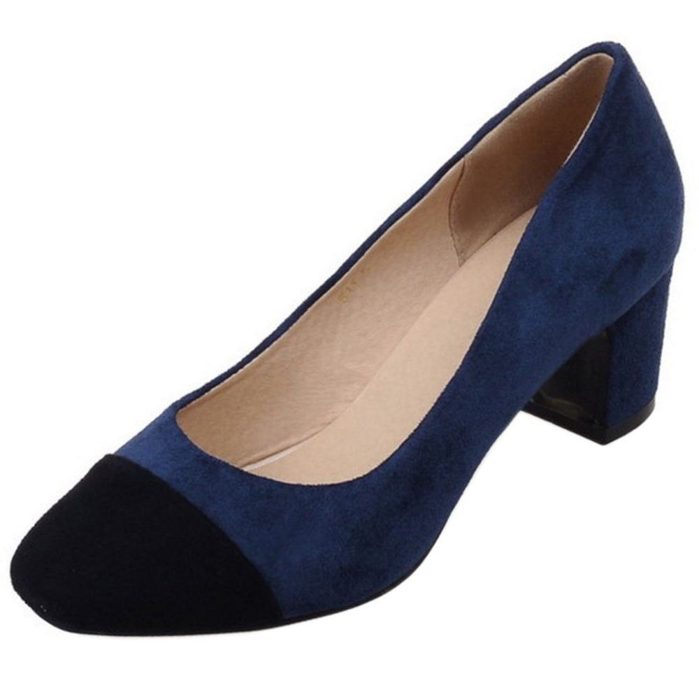 Zanpa Damen Mode Pumps Mid Heel40 EU|1#blue