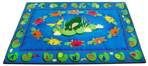 (Kid Carpet FE745-34A Turtle Circle time Nylon Area Rug, 6' x 8'6