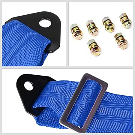 Nylon, Steel NRG Innovations SBH-6PCBL 6-Point Cam Lock Blue Racing Harness Seat Belt Replacement