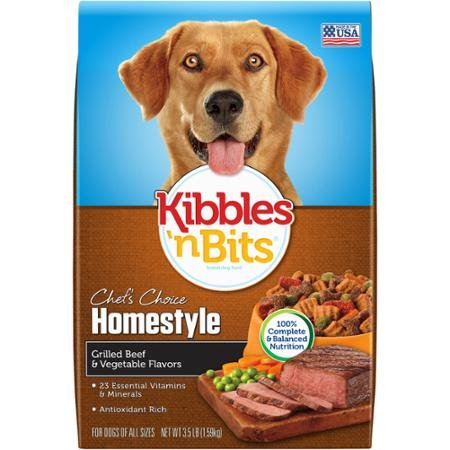 Kibbles 'n Bits Homestyle Dry Dog Food - Grilled Beef & Vegetable - 3.5 lb