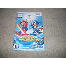 Mario & Sonic at the Olympic Winter Games instruction book manual for Nintendo Wii