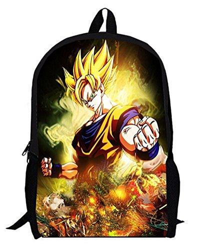 YOYOSHome Dragon Ball Z Anime Goku Cosplay BookBag Rucksack Backpack School Bag by YOYOSHome