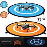 iMusk Drone and Quadcopter Landing Pad RC Aircraft Soft Landing Gear Surface Made of Waterproof Eco-Friendly Rubber for DJI Mavic Phantom 3 4 Spark Mavic Pro (75 cm)