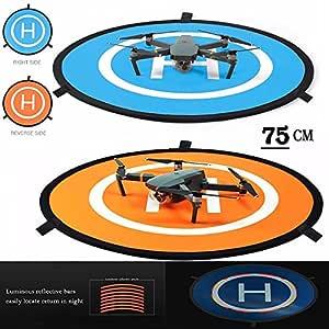iMusk Drone and Quadcopter Landing Pad RC Aircraft Soft Landing Gear Surface Made of Waterproof Eco-Friendly Nylon for DJI Mavic Phantom 3 4 Spark Mavic Pro (75 cm)