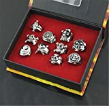Vicwin-One One Piece Monkey·D·Luffy Skull Head Ring Set Cosplay