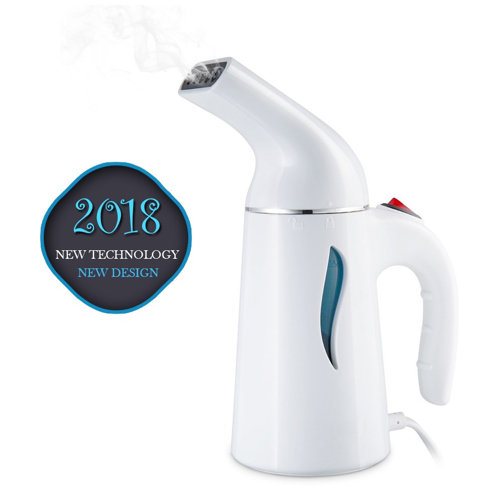 Clothes Steamer, Walbest Portable Garment Steamer Fast-Heat Powerful Handheld Clothing Steamer with Automatic Shut-Off Safety Protection, 140ml Capacity Perfect for Home and Travel (White)