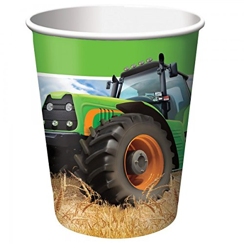 Tractor Time 9 oz Cups (8 Count)